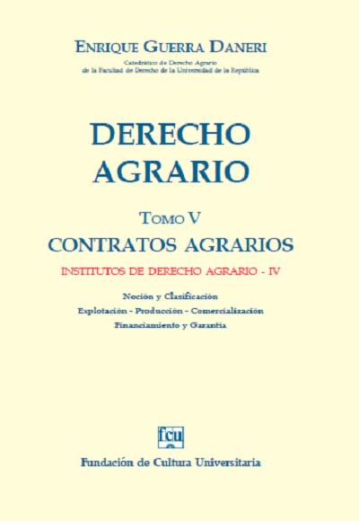 Tapa Derecho Agrario - Tomo 5