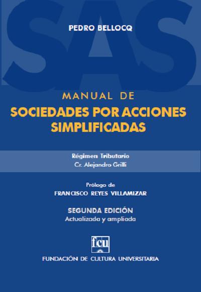 Tapa del Manual de Sociedades por Acciones Simplificadas