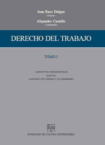 Tapa Derecho del trabajo - Tomo 1