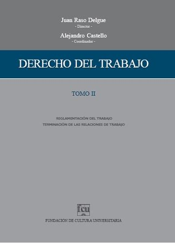 Tapa Derecho del trabajo - Tomo 2
