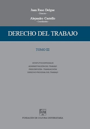 Tapa Derecho del trabajo - Tomo 3
