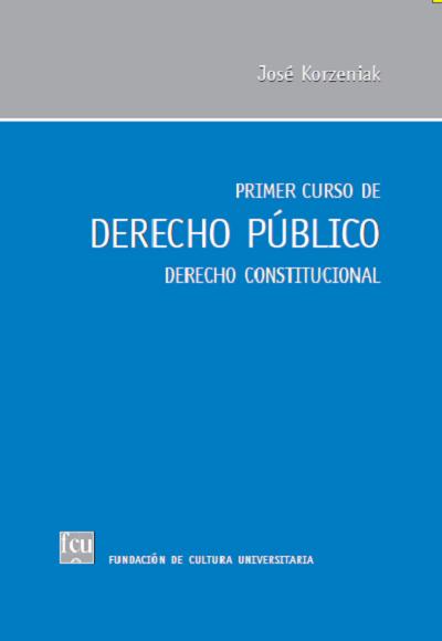 Tapa del libro: Primer curso de Derecho Público