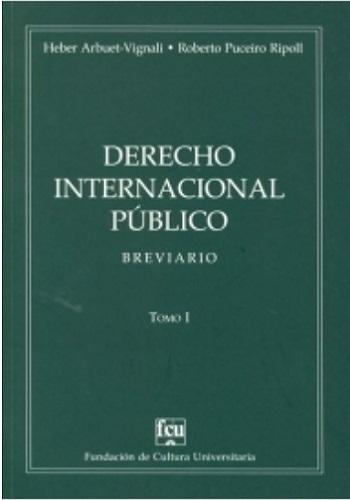 Tapa: Arbuet Vignali - Puceiro Ripoll, Derecho internacional público, Breviario, Tomo II