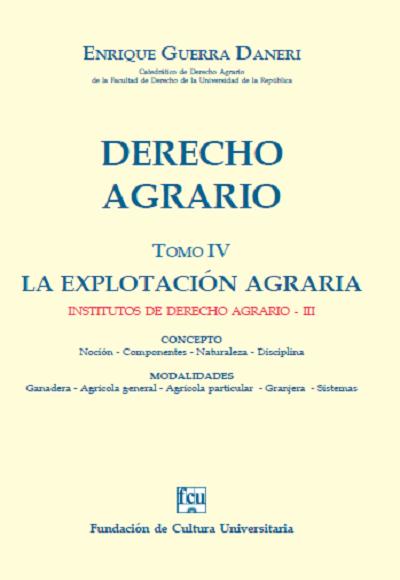 Tapa Derecho Agrario - Tomo 4